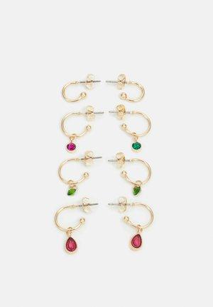 PCZAHUR EARRINGS 4 PACK - Earrings - gold-coloured/multi