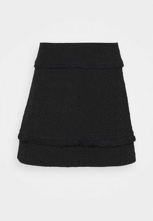 TEXTURED SHORT SKIRT - Miniskjørt - black