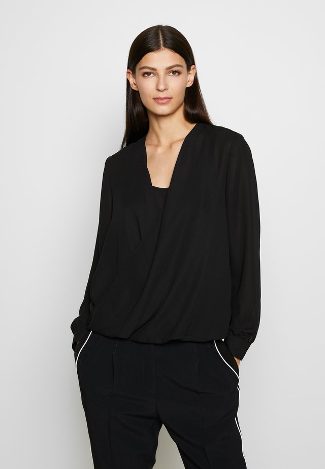CHARLOTTE LAYER BLOUSE - Pusero - black