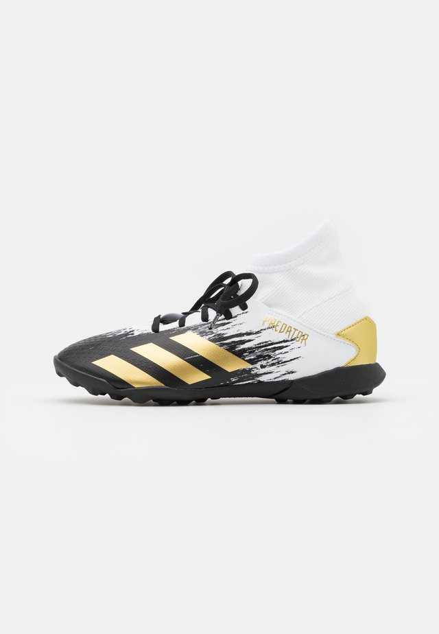 PREDATOR 20.3 FOOTBALL BOOTS TURF UNISEX - Fotballsko for kunstgress - footwear white/gold metallic/core black