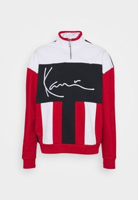 Karl Kani - SIGNATURE BLOCK TROYER UNISEX - Sweatshirt - red - 5