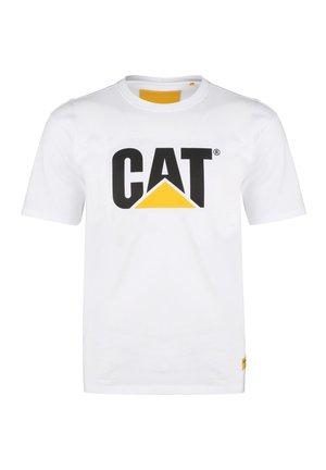CATERPILLAR CLASSIC CAT T-SHIRT HERREN - T-shirt con stampa - white