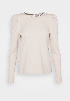 VMNOREEN O NECK BLOUSE - Long sleeved top - oatmeal