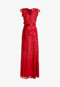 Maya Deluxe - EMBELLISHED MAXI DRESS WITH SASH BOW TIE - Ballkjole - red - 5