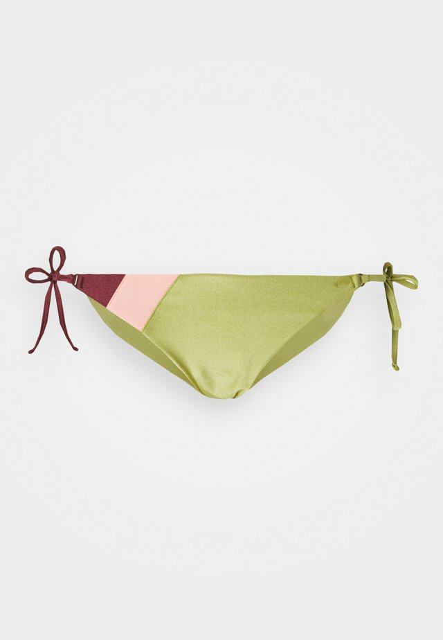 TALLOWS TIE SIDE SKIMPY - Bikini pezzo sotto - green