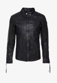 Tigha - NERO - Leather jacket - black - 4
