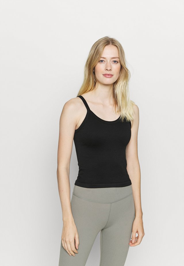SCOOP NECK   - Toppe - black