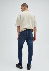 PULL&BEAR - Slim fit jeans - mottled dark blue - 2