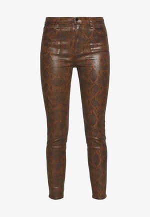 ALANA HIGH RISE CROP - Jeans Skinny Fit - dark eclair