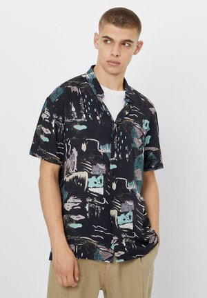 MIT ABSTRAKTEM PRINT  - Shirt - grey