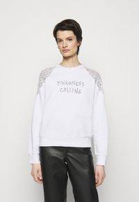 Pinko - MILIARDARIO MAGLIA FELPA - Sweatshirt - white - 0