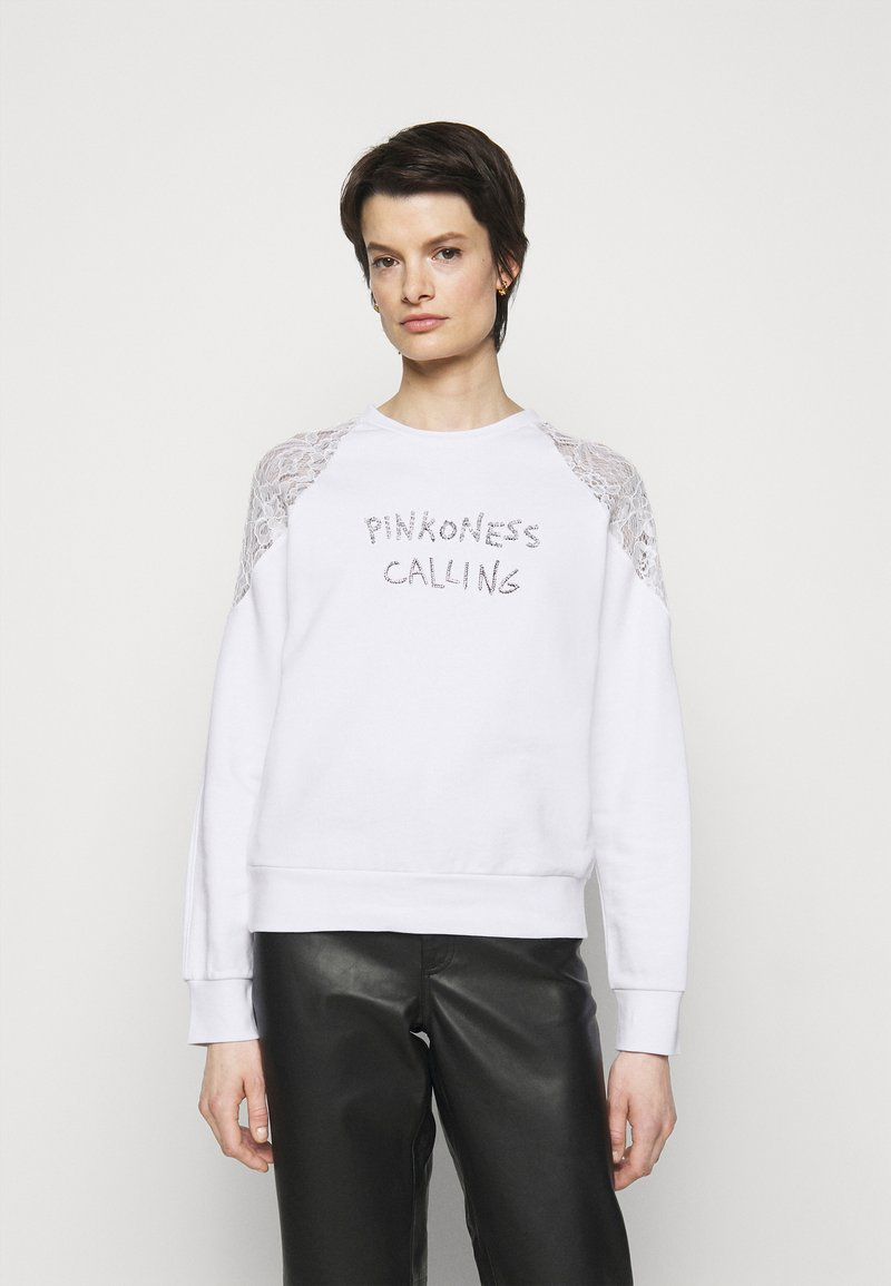 Pinko - MILIARDARIO MAGLIA FELPA - Sweatshirt - white