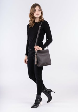 DORA - Across body bag - brown/taupe