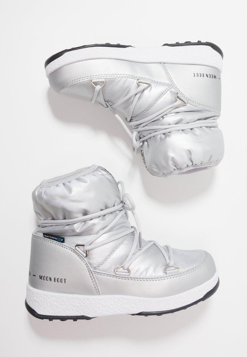 Moon Boot - GIRL LOW WP - Šněrovací kotníkové boty - silver metallic
