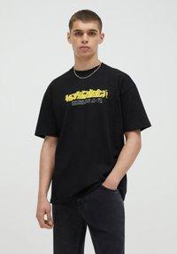 PULL&BEAR - T-shirt imprimé - black - 0