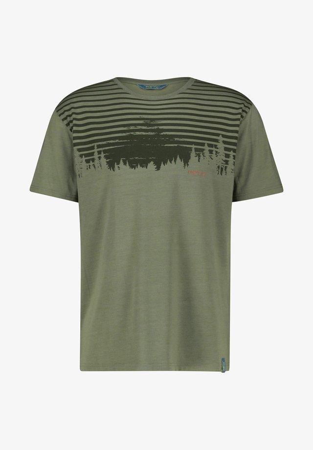 MOSS - Print T-shirt - olive