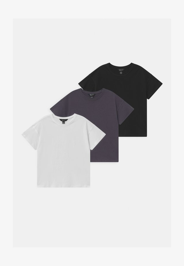 ORGANIC BASIC BOXY 3 PACK - T-shirts - grey