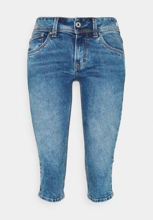 SATURN CROP - Shorts vaqueros - denim