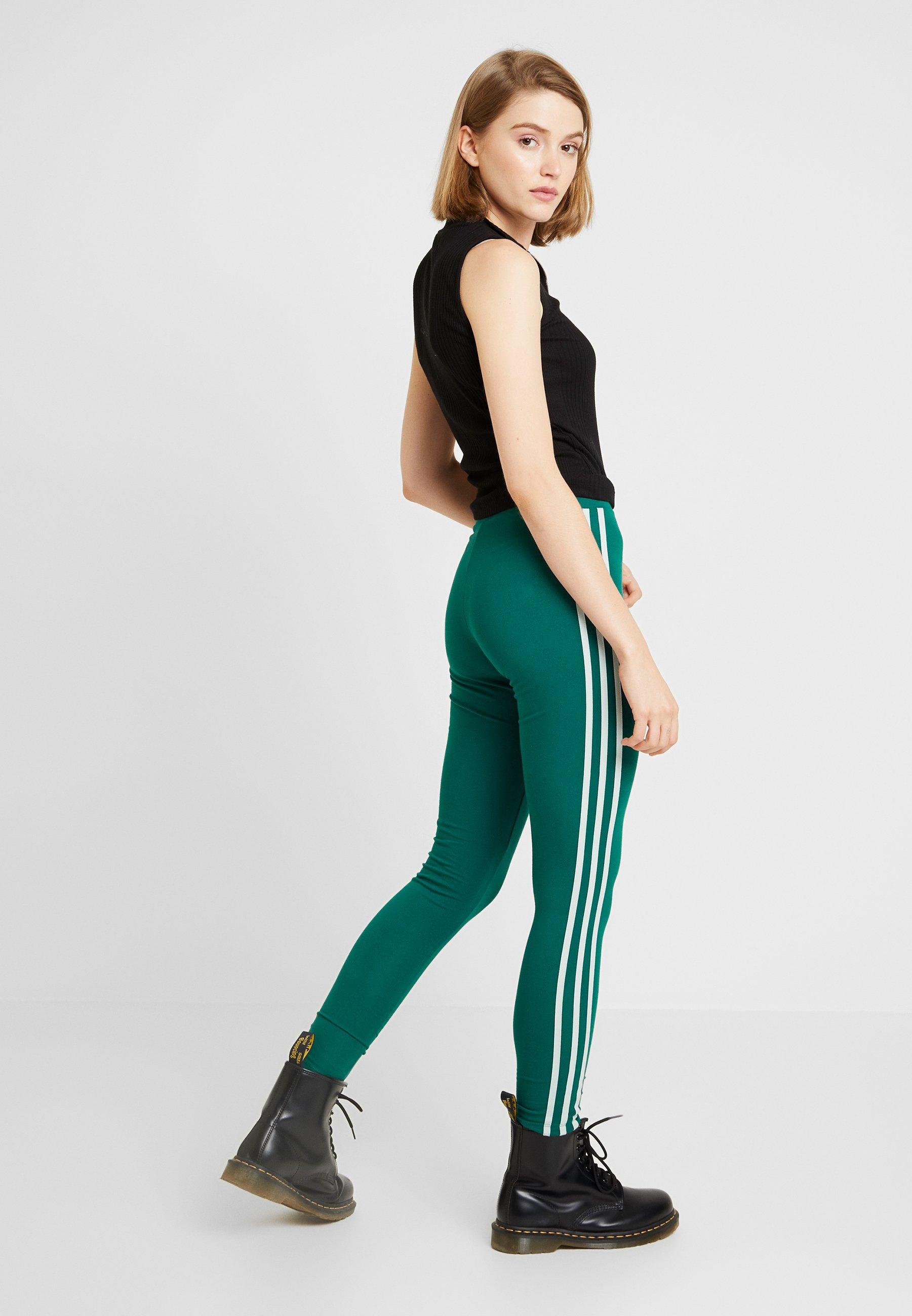 ADICOLOR 3 STRIPES TIGHTS Leggings noble green