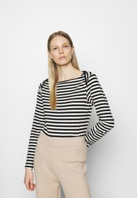 Anna Field - Långärmad tröja - black/white - 0