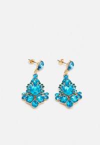 PCLAUREN EARRINGS - Náušnice - blue/gold-coloured
