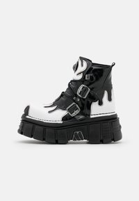 New Rock - UNISEX - Lace-up ankle boots - black/white - 0