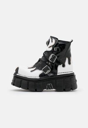 UNISEX - Šněrovací kotníkové boty - black/white