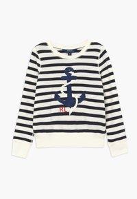 Polo Ralph Lauren - STRIPE TERRY - Mikina - clubhouse cream/hunter navy - 0