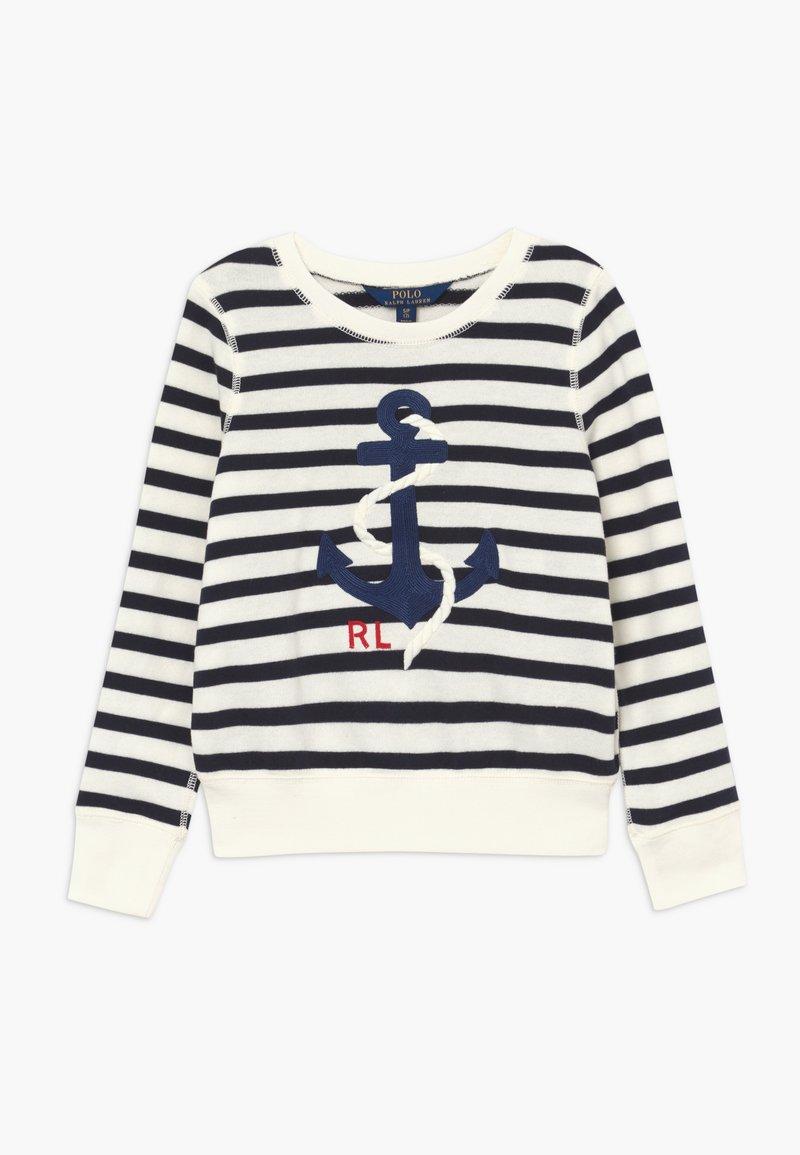 Polo Ralph Lauren - STRIPE TERRY - Mikina - clubhouse cream/hunter navy