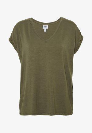 VMAVA VNECK TEE  - Basic T-shirt - ivy green