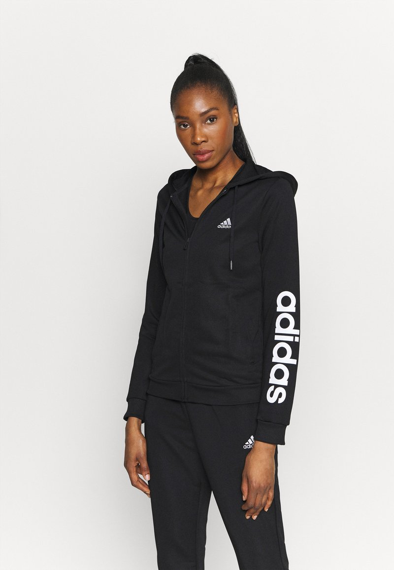adidas Performance - SET - Trainingspak - black/white