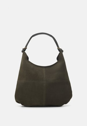 LEATHER - Tote bag - khaki