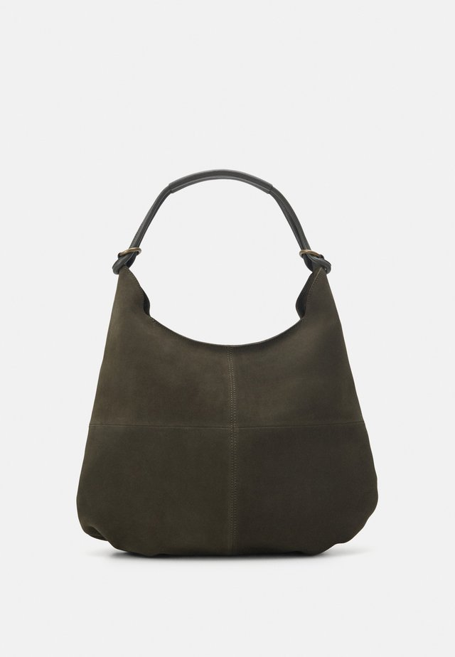 LEATHER - Torba na zakupy - khaki