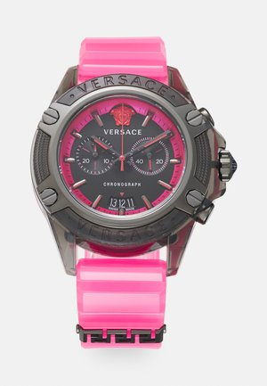 CHRONO ACTIVE UNISEX - Chronograph watch - transparent fucshia/black