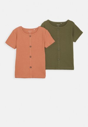 NMFRIBSA 2 PACK  - Camiseta estampada - ivy green