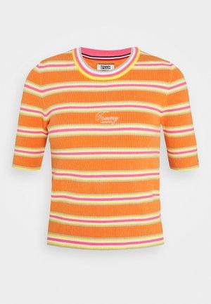 STRIPE SLEEVE - Print T-shirt - rustic orange/multi