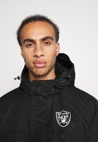 Fanatics - NFL OAKLAND RAIDERS ICONIC BACK TO BASICS HEAVYWEIGHT JACKET - Sportovní bunda - black - 3