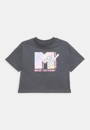 GIRLS TEE - Print T-shirt - dark grey