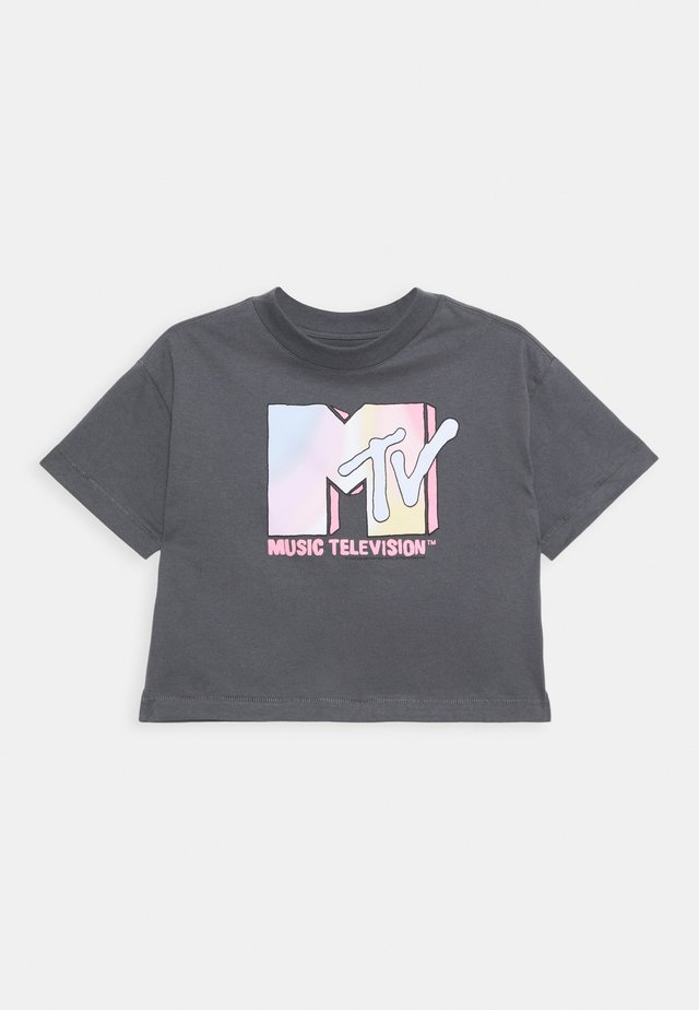 GIRLS TEE - T-shirt med print - dark grey