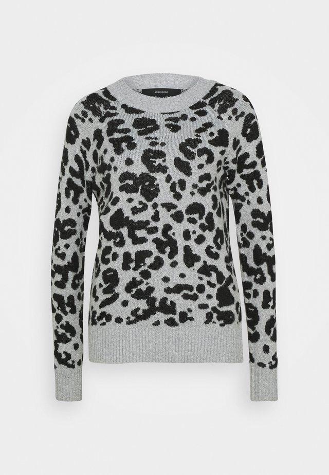 VMEMMA - Pullover - light grey melange/black