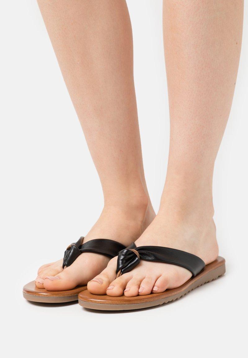 Anna Field - LEATHER - T-bar sandals - black