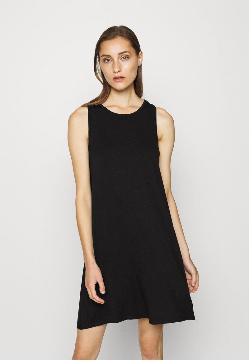 GAP - SWING DRESS - Jersey dress - true black
