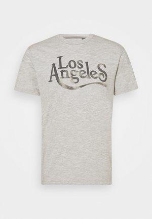 JPRBLUHUBERT TEE CREW NECK - Camiseta estampada - light grey melange