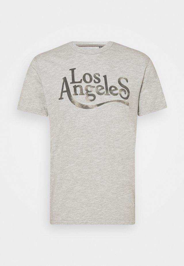 JPRBLUHUBERT TEE CREW NECK - Print T-shirt - light grey melange