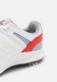 adidas Golf - EQT - Golf shoes - footwear white/vivid red - 5