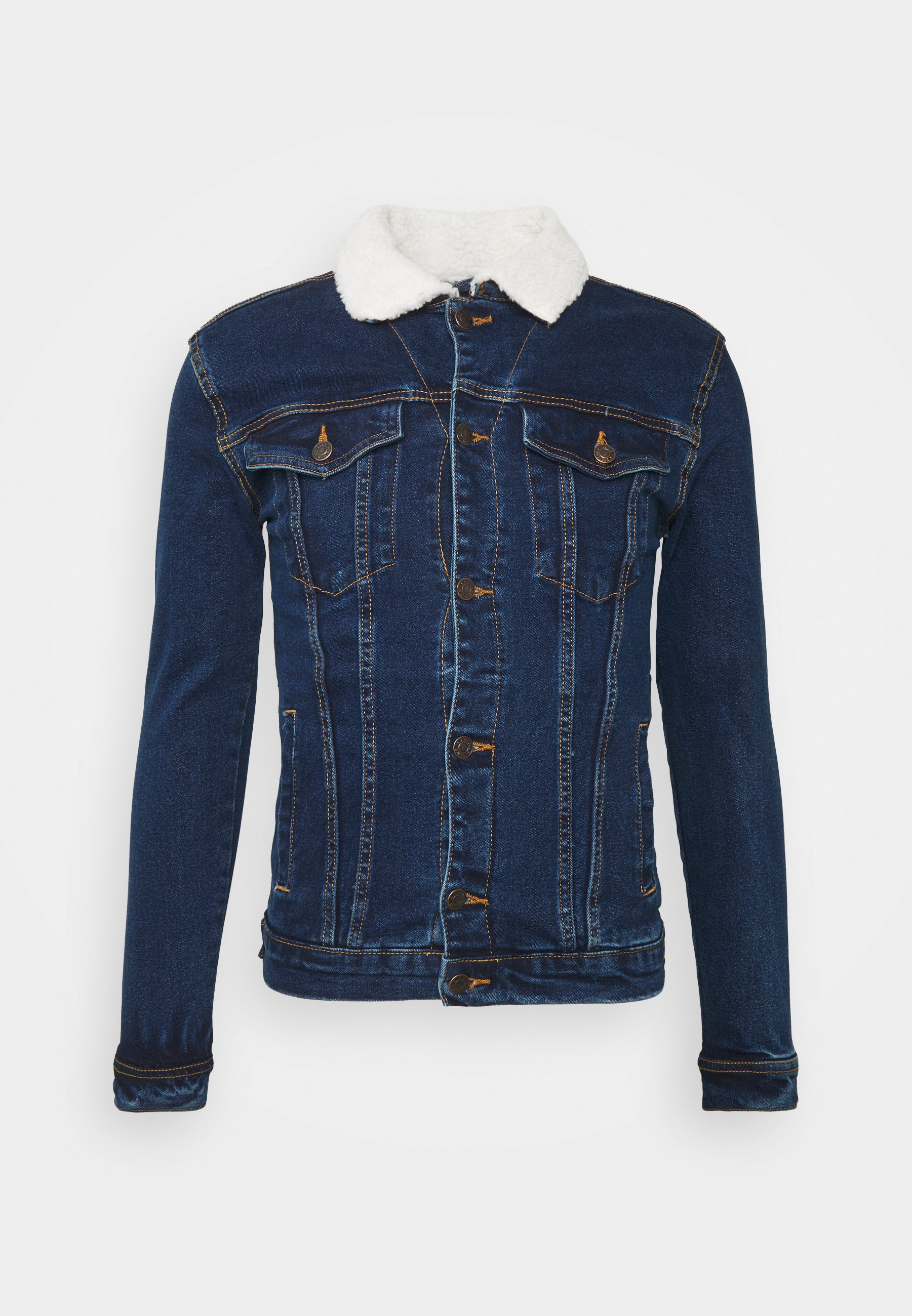 Denim Project Jackor Jeansjackor Kash Teddy Denim i svart