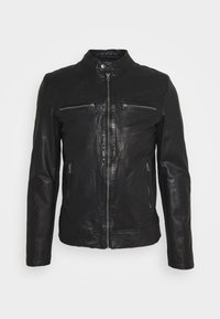 Goosecraft - KYLL BIKER - Leather jacket - black - 0