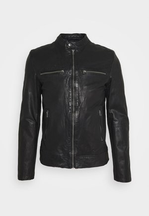KYLL BIKER - Leather jacket - black