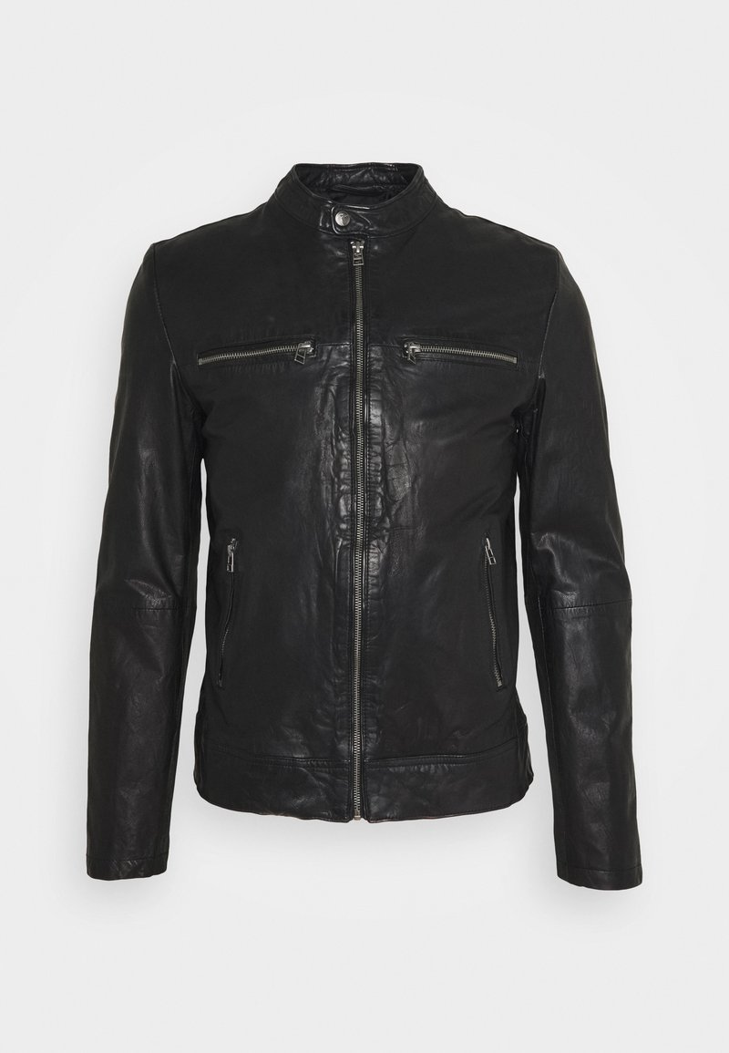 Goosecraft - KYLL BIKER - Leather jacket - black
