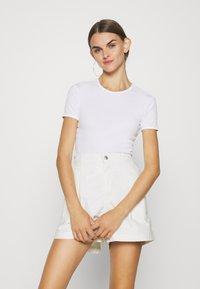 Even&Odd - Print T-shirt - white/black - 3